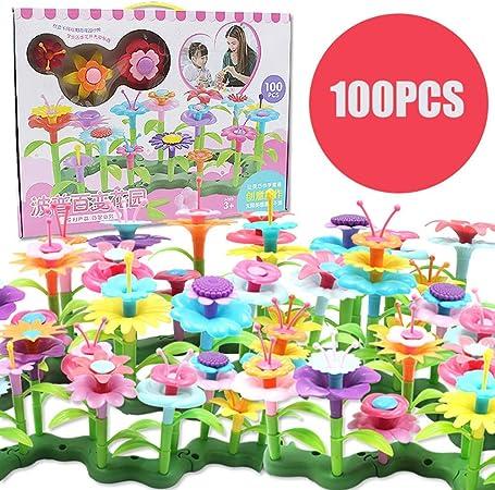 Juntful Joy-Fun Regalos para Niños Infantil de Niña Jardín Flores Juguete Construcción Bloques Juego Floral Arrangement Parque Artes y Manualidades Niñas Creative Cumpleaños - 100pcs: Amazon.es: Hogar