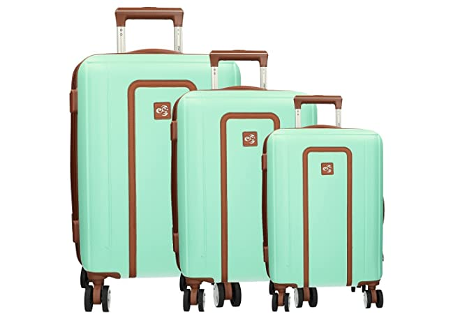 CLACSON 3 Maletas rígidas set verde 2 equipaje de bodega 1 ...