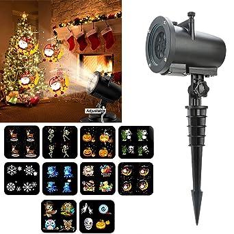 Led Weihnachten.Rosa 12 Muster Projektion Taschenlampe Musik Schneeflocken Lichter
