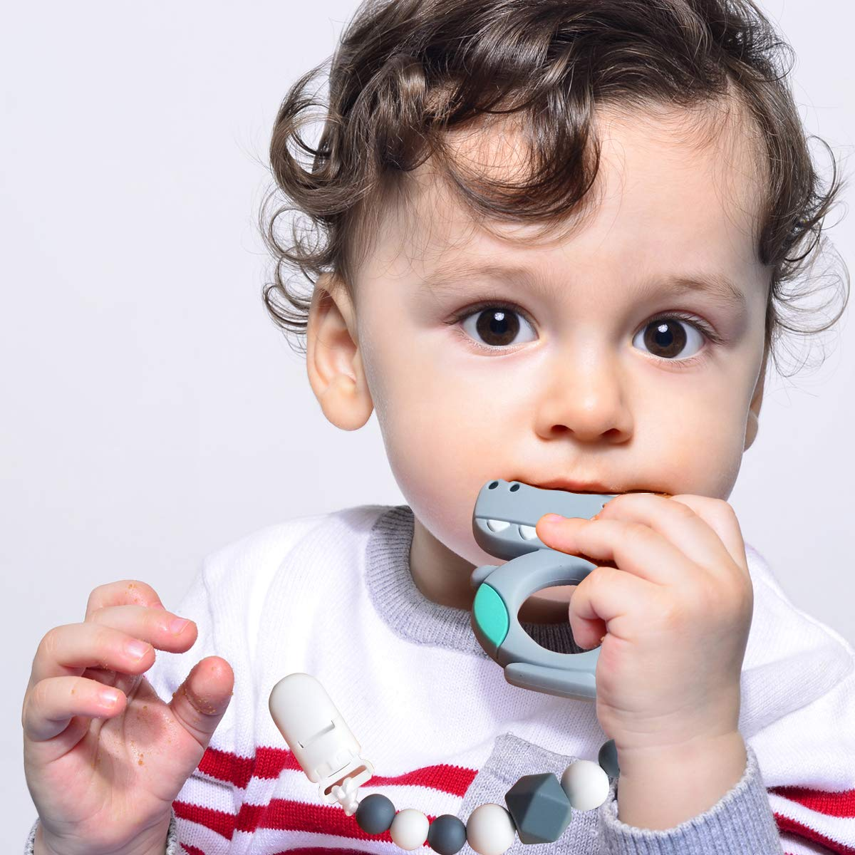 Baby Teether Toys with Teether Pacifier Clip Holder CANAY Baby Teething Toys Best BPA-Free Molar Teether Toys
