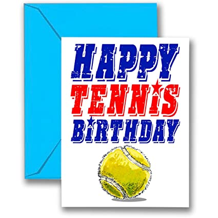 Amazon.com: Paquete de 3 tarjetas de cumpleaños de TENNIS ...
