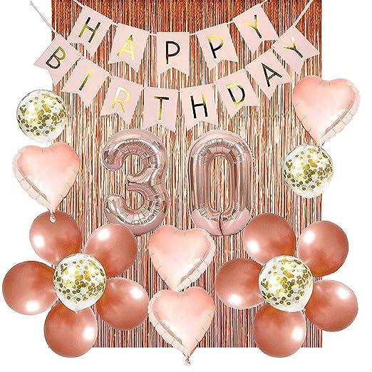 KukiMa - Kit de decoración para fiesta de cumpleaños de 30 o ...