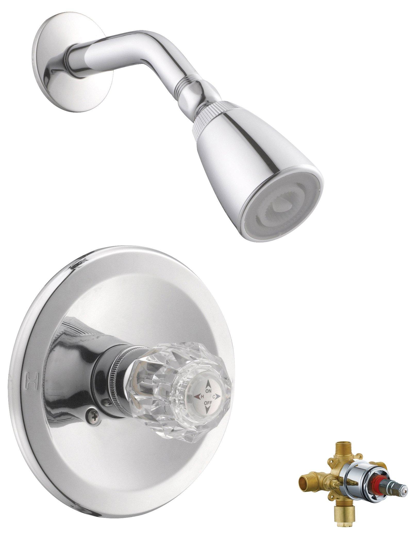 Design House 545939 Millbridge Shower Trim With Valve, Polished Chrome