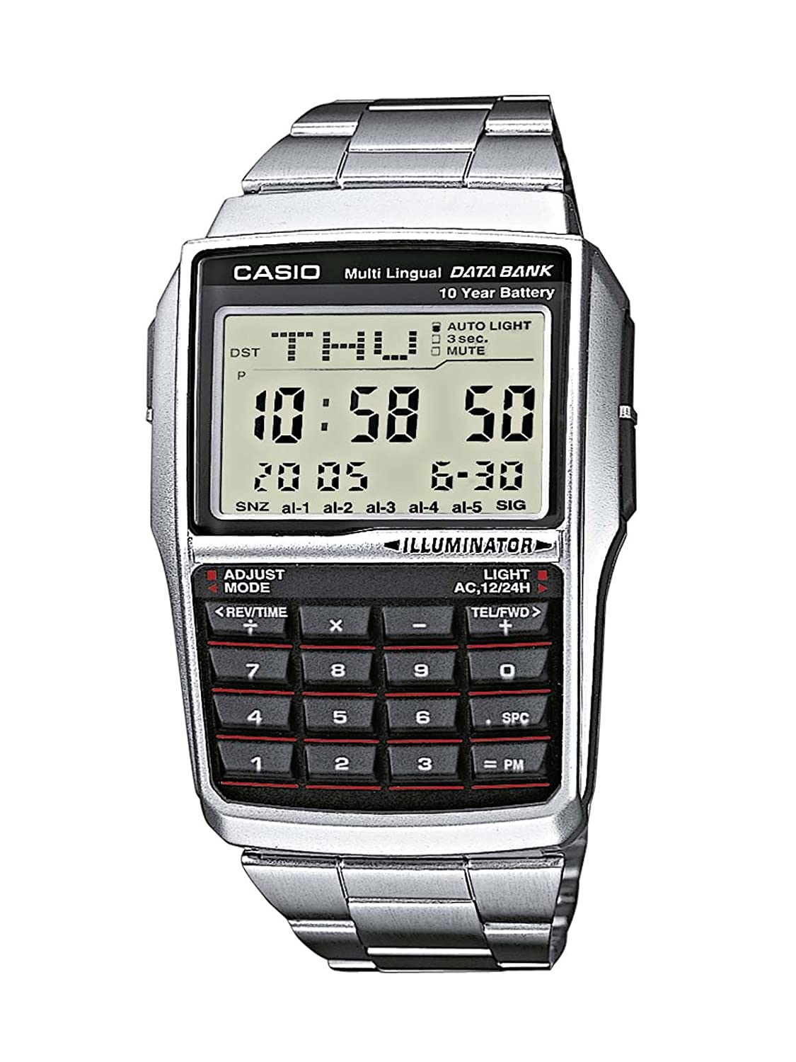 Casio Collection Reloj Digital Unisex con Correa de Acero Inoxidable – DBC