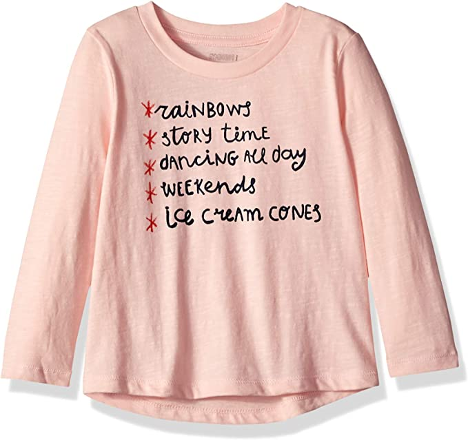 Gymboree Girls Big Long Sleeve Graphic Top