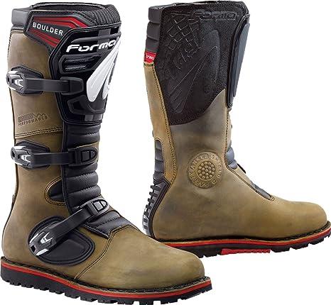 Forma Stivali Moto Trial Boulder Omologata CE  Amazon.it  Auto e Moto 42c09228eed