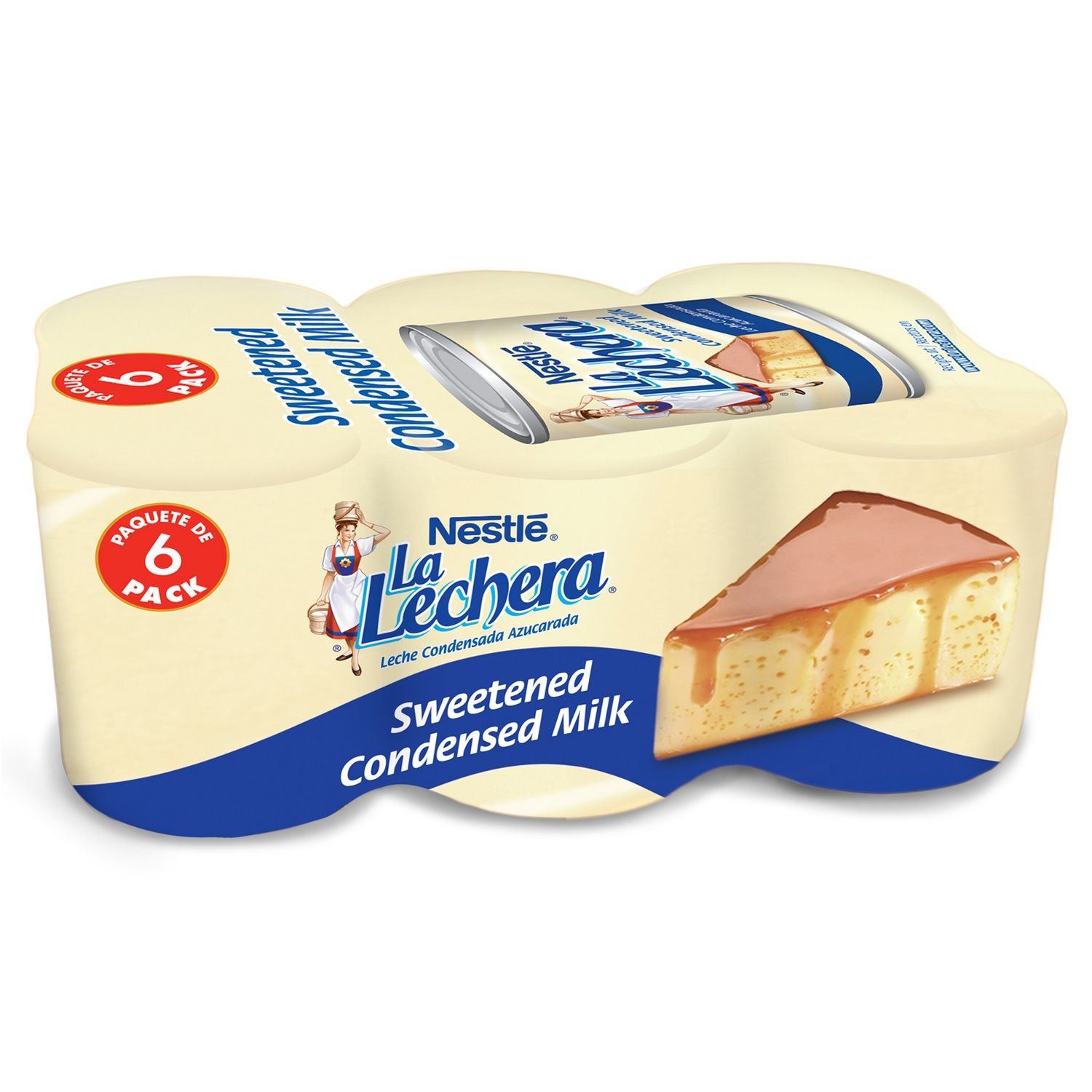 Amazon.com : Nestle La Lechera Sweetened Condensed Milk, 14-ounce Cans (Pack of 6) : Leche Condensada : Grocery & Gourmet Food