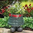 Bits and Pieces - Fun Denim Skirt Planter-Durable Resin Sculpture - Use Indoors or Outdoors