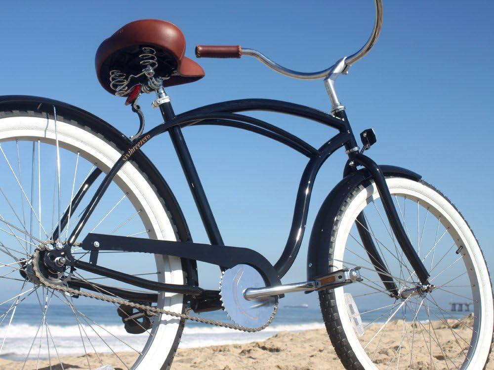sixthreezero Men s BE Single Speed Beach Cruiser Bicycle, Black, 26 Wheels 19 Frame