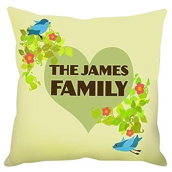 Amazon.com: Personalizada para árbol de familia – cojín 19.7 ...