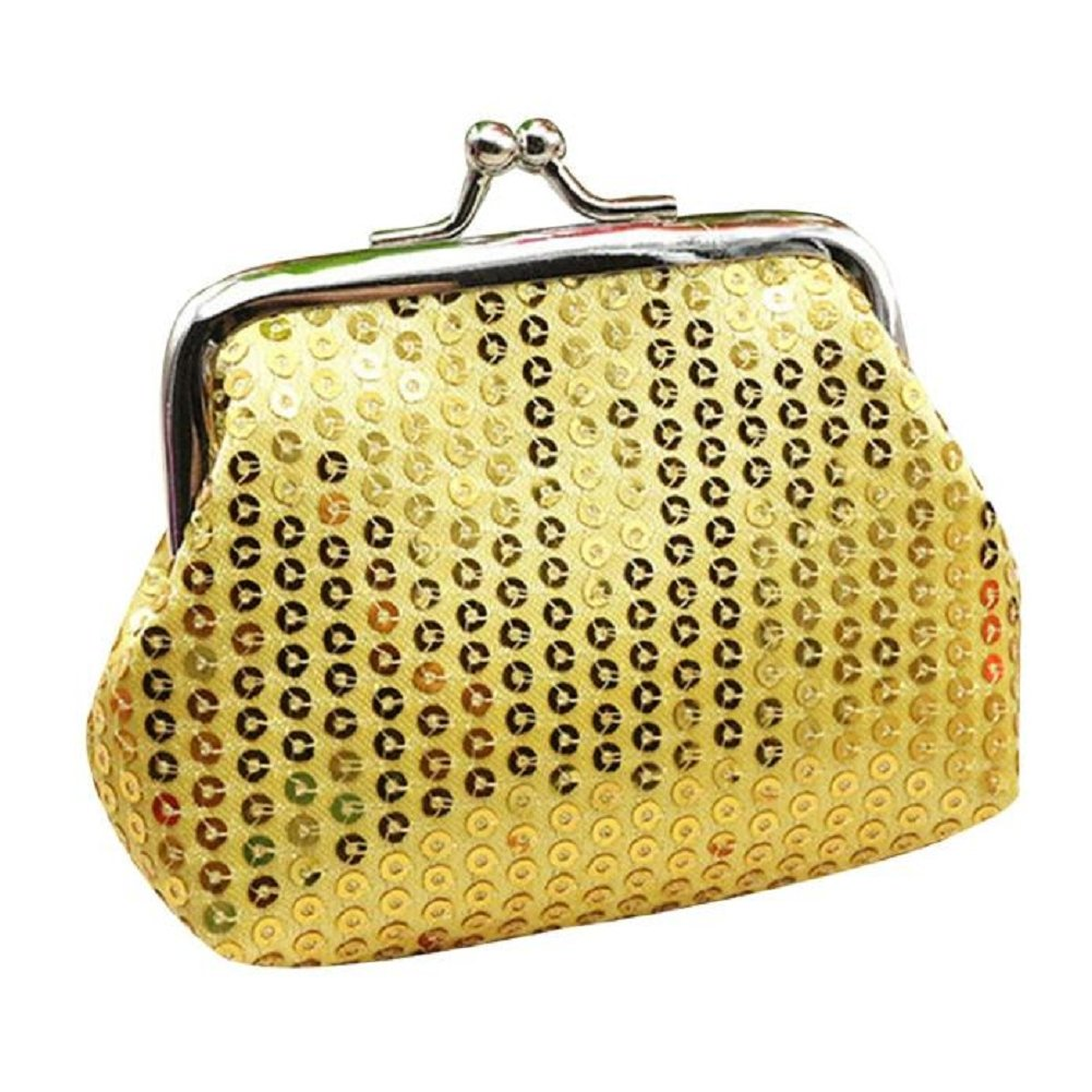 Misaky Womens Sequin Wallet Purse Clutch Bag Bag Vintage Wallet for Evening Party (9cmX4cm, A_Gold)