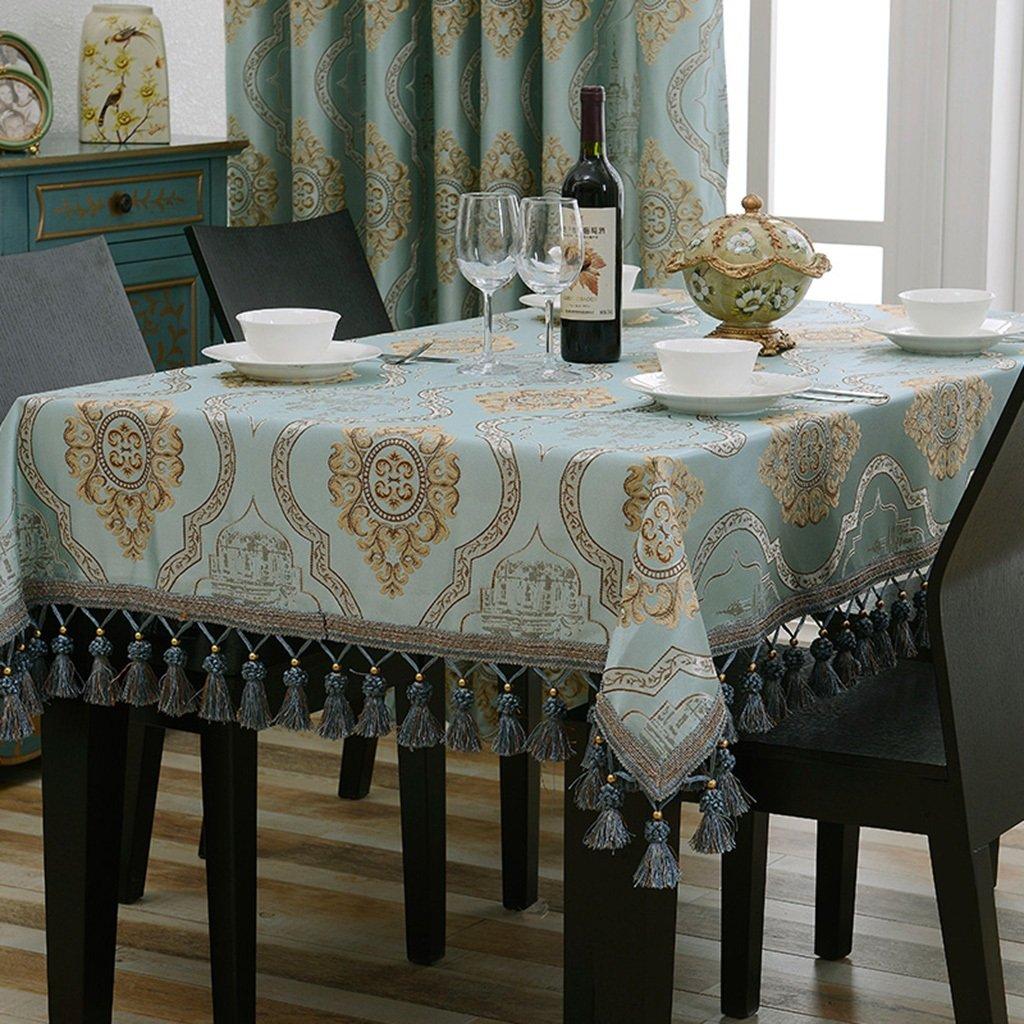 Europäische Tischdecke Rechteck Tischdecke europäischen Tuch Tee Tischdecken Wohnzimmer Esstisch ( Farbe   A , größe   110170cm ) F 110170cm