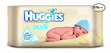Huggies Baby Wipes (72 Count (Pack of 8), Pure)