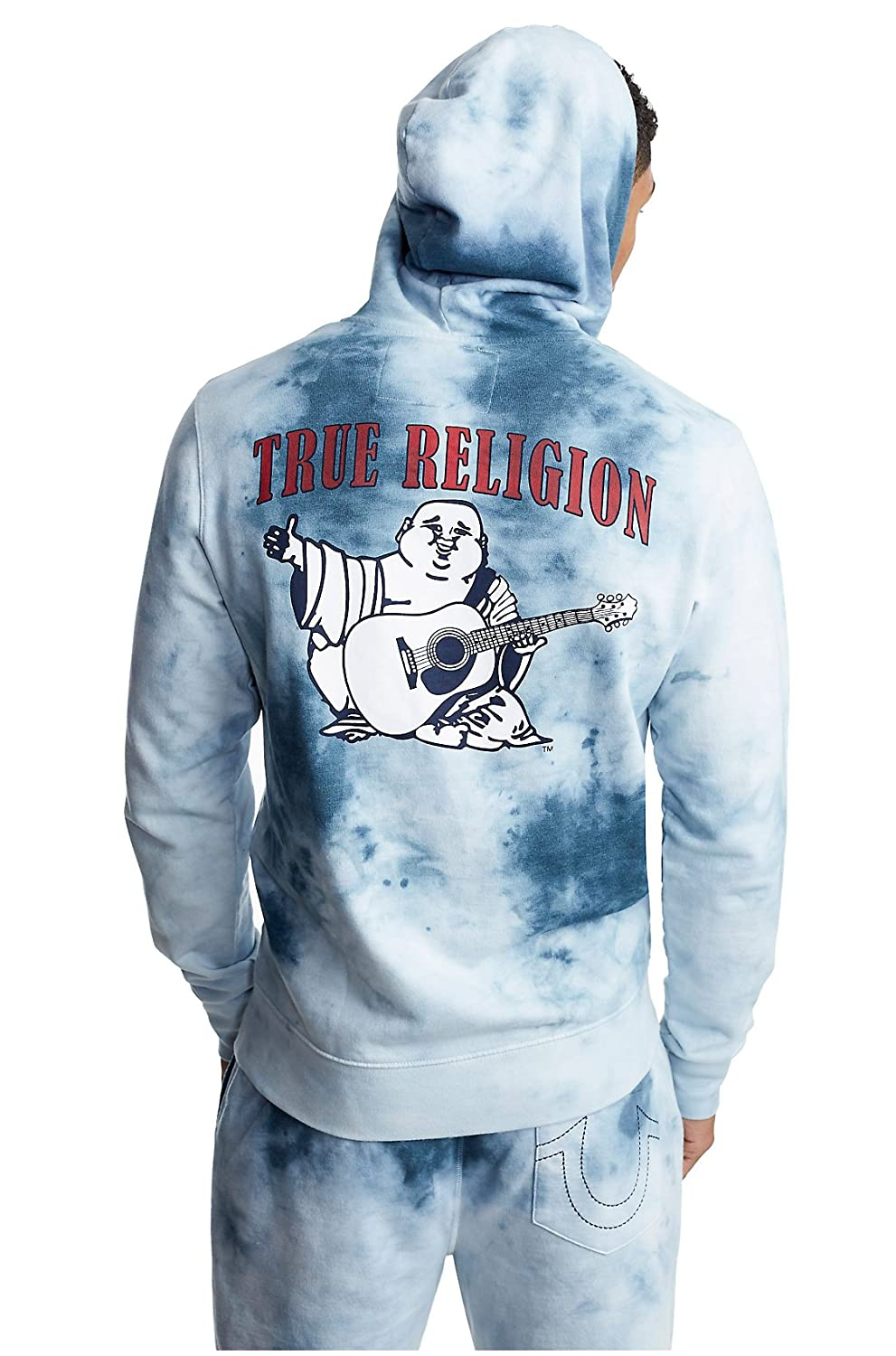 47cad6fcd Top3: True Religion Men\'s Buddha Logo Long Sleeve Full Zip-up Hoodie in  Ocean Waves