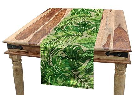 ABAKUHAUS Hoja Verde Camino de Mesa, Fresca Selva Aloha ...