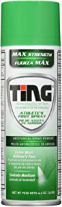 Ting Antifungal Spray Powder for Athlete's Foot, Jock Itch, Ringworm , Max Strength, 4.5-Ounces, 1-Unit