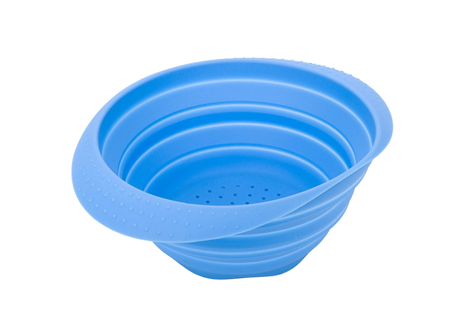 MIU France Collapsible Silicone Colander, Blue 99029