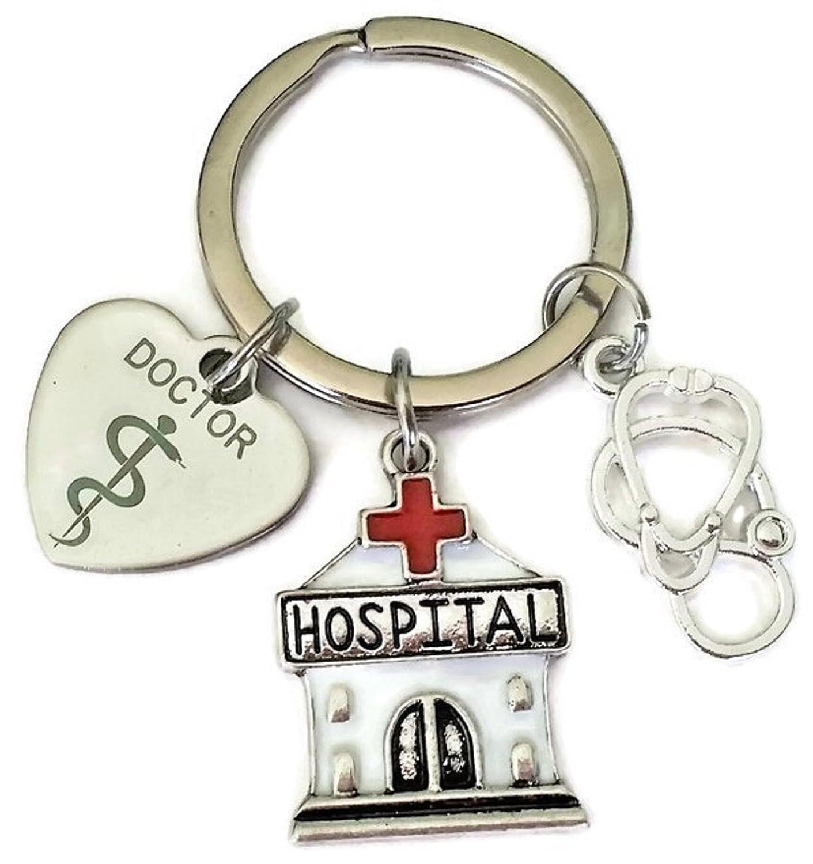 Llavero de médico, llavero de hospital, estetoscopio ...
