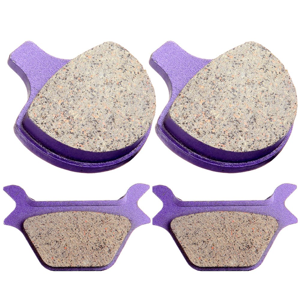 Kevlar Carbon Brake Pads ECCPP Motorcycle Replacement Front and Rear Pads Sets for 1988-1999 Harley Sportster Softail Series All Model