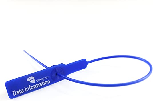 20 X Blue Plastic Security Tags Numbered Pull Ties Secure Anti-Tamper Seals