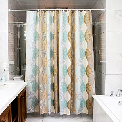 Wendana Fabric Shower Curtain Abstract Leave Pattern Bathroom Curtains Waterproof Polyester For 72quot