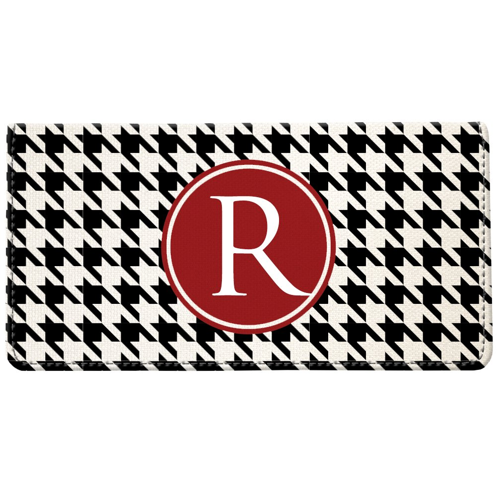 Snaptotes Houndstooth Personalized Monogram Checkbook Cover
