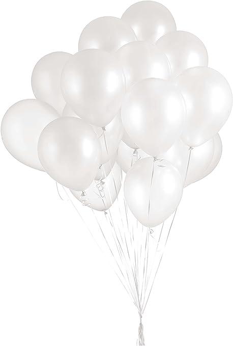 "Assorted Colors 100 Premium Pearl Metallic Balloons 12/"""