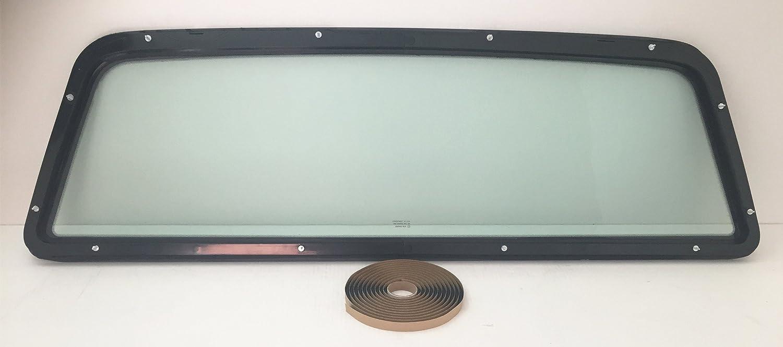 Light Duty Pickup Rear Window Back Glass Stationary USA W//Free Butyl Tape Fits 1997-2003 Ford F150,1997-1999 Ford F250LD