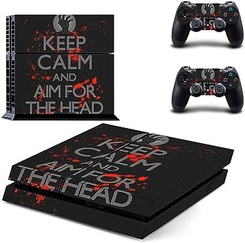 qkonsole PS4 Keep Calm Diseño Skin Sticker Playstation 4 vinilo protector de pantalla – mate: Amazon.es: Electrónica