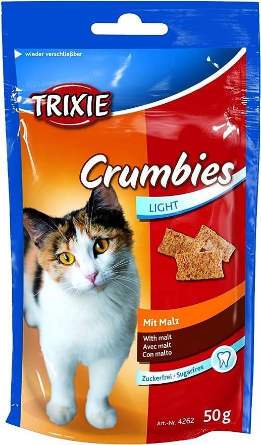 TRIXIE Crumbies con Malta, 50 g, Gato: Amazon.es: Productos para mascotas