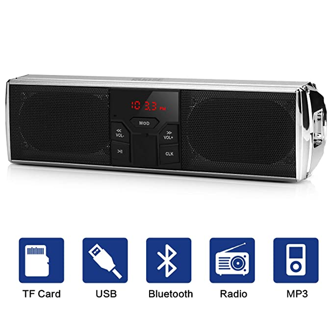 Altavoz Estéreo Inalámbrico para Motocicleta Compatible con La Función de Control de Aplicaciones Bluetooth, Sistema de Sonido de Audio MP3