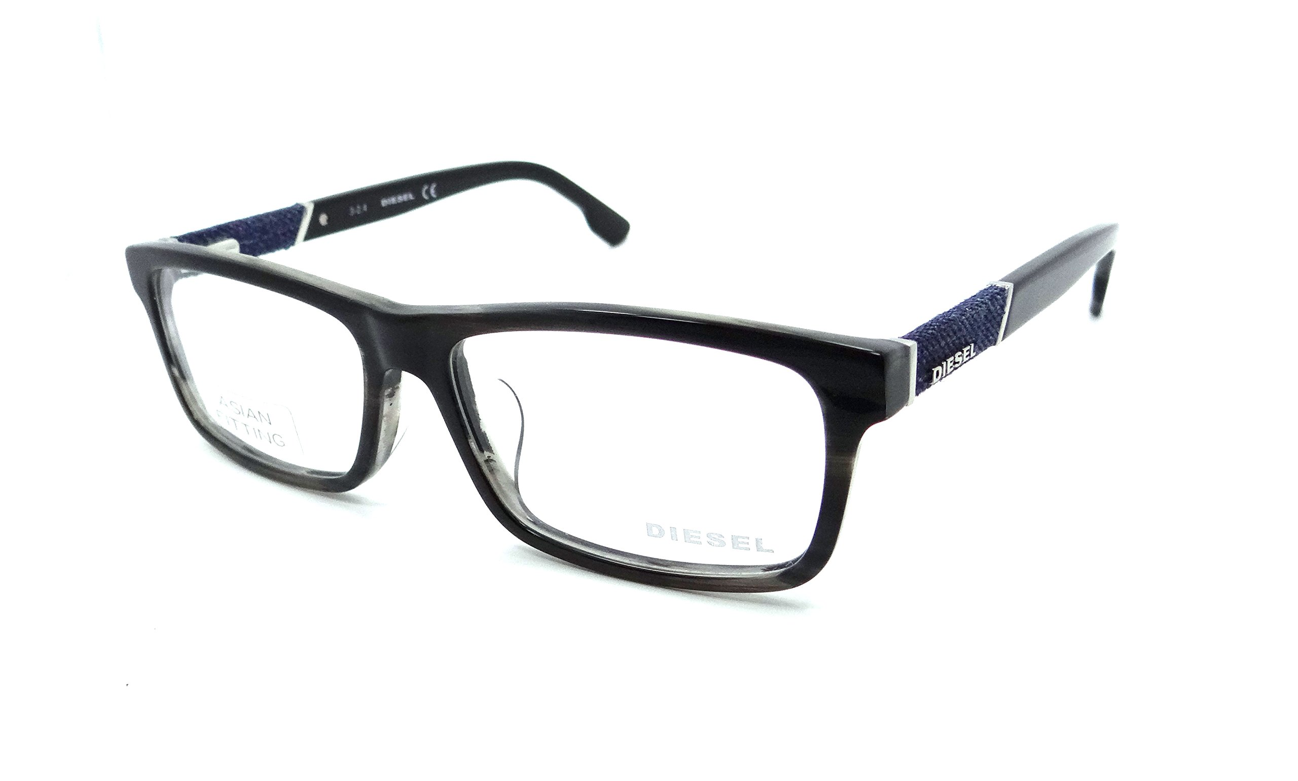 Diesel Rx Eyeglasses Frames DL5126-F 020 58-16-150 Brown Grey Striped Asian Fit