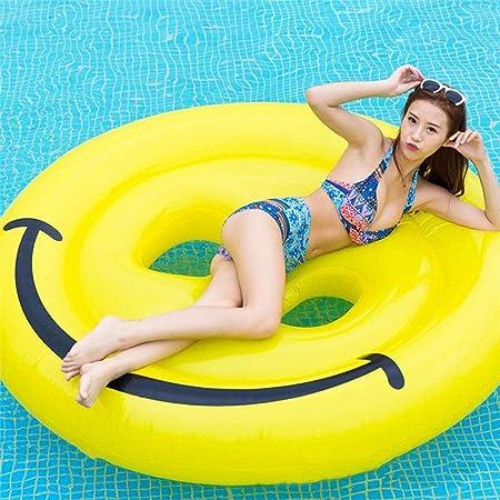 Pool Toy Hinchable Colchonetas Inflable Cara Sonriente Piscina Flotador Fila Paseo En La Piscina Gigante Fiesta De Vacaciones Juguetes Divertidos Baños De Natación 160 * 160 Cm Yellow-160 * 160cm: Amazon.es: Hogar
