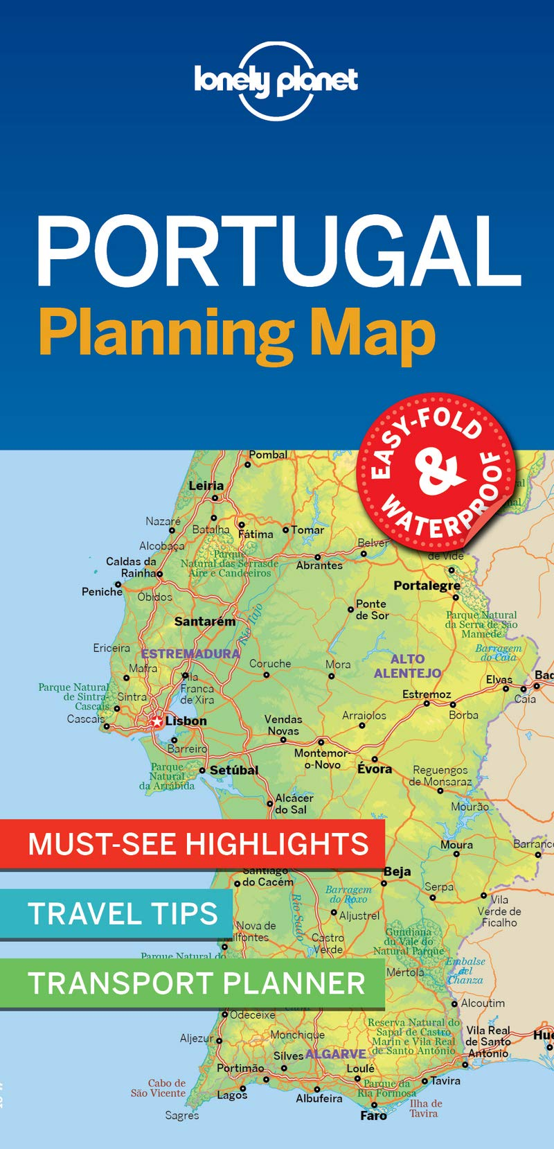 Lonely Planet Portugal Planning Map [Idioma Inglés]: Amazon.es ...