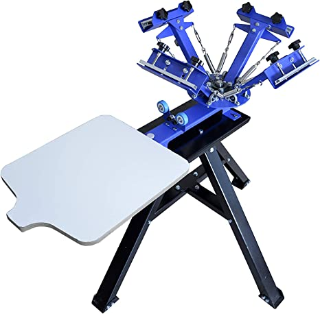 1 Color 1 Station VEVOR Screen Printing Machine 17.7x21.7Inch Screen Printing Press 1 Color 1 Station Silk Screen Printing for T-Shirt DIY Printing Removable Pallet Renewed