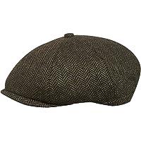 8b3d699a TOSKATOK® Unisex Mens, Ladies 8 Panel Herringbone Tweed Wool Blend Baker  Boy Newsboy Flat