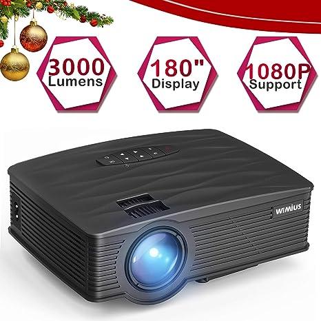 Mini proyector portátil LCD de 3000 lúmenes, proyector de Apoyo ...