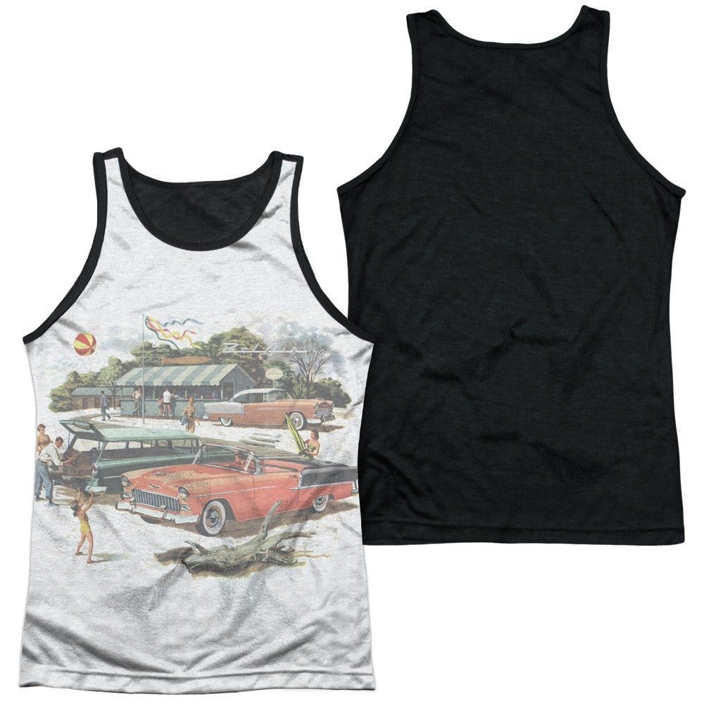 Chevy Washed Out Adult Tank Top
