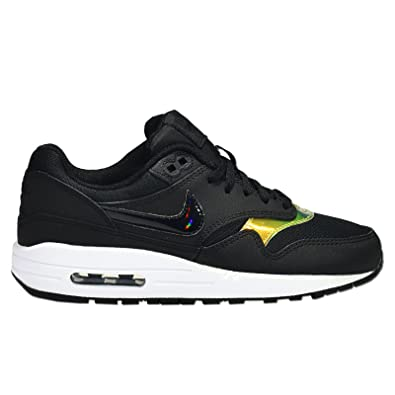 brand new 5c5f5 703dd Nike Air Max 1 (GS), Baskets Basses Mixte Enfant, Noir Blanc