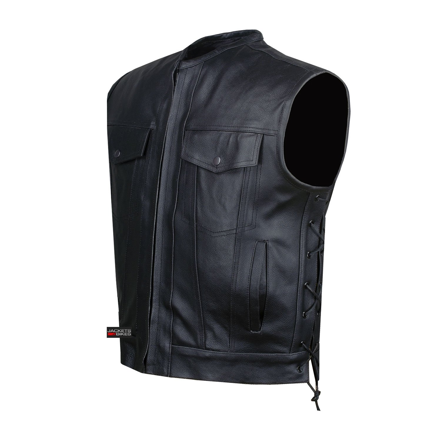 SOA Motorcycle Sons of Anarchy ARMOR Leather Open Collar Leather Biker Vest L