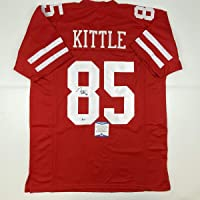 $299 » Autographed/Signed George Kittle San Francisco Red Football Jersey Beckett BAS COA