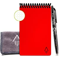 "Rocketbook Smart Reusable Notebook - Dotted Grid Eco-Friendly Notebook with 1 Pilot Frixion Pen & 1 Microfiber Cloth Included - Atomic Red Cover, Mini Size (3.5"" x 5.5"")"