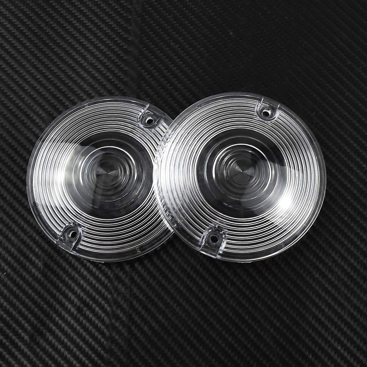 YHMTIVTU 3 1//4 Flat Clear Turn Signal Lenses Covers for Harley Touring Electra Glide Road King,2 pcs