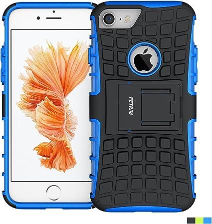 Coque iPhone 7, Fetrim Armure Support TPU Silicone Plastique Protection Étui,Anti Chocs Bumper Hybride Protection Housse Cover pour Apple iPhone 7 - ...