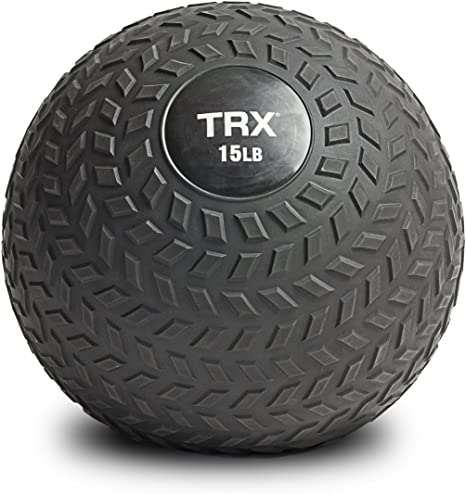 50 Pound TRX Training Slam Ball with Easy-Grip Textured Surface and Ultra-Durable Rubber Shell