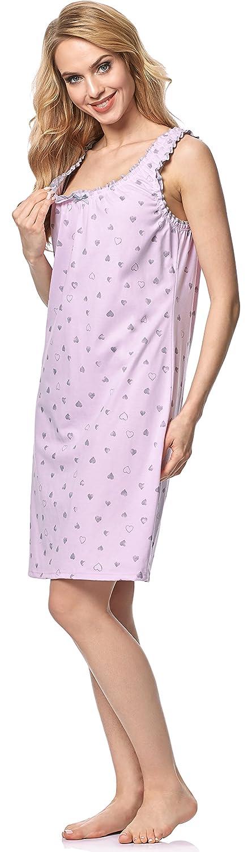 Italian Fashion IF Chemise de Nuit V/êtement Grossesse Allaitement Femme 1L2T1 0112