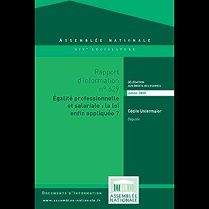 Rapport d'information sur l'application du dispositif relatif à la mise en oeuvre des obligations des entreprises pour l…