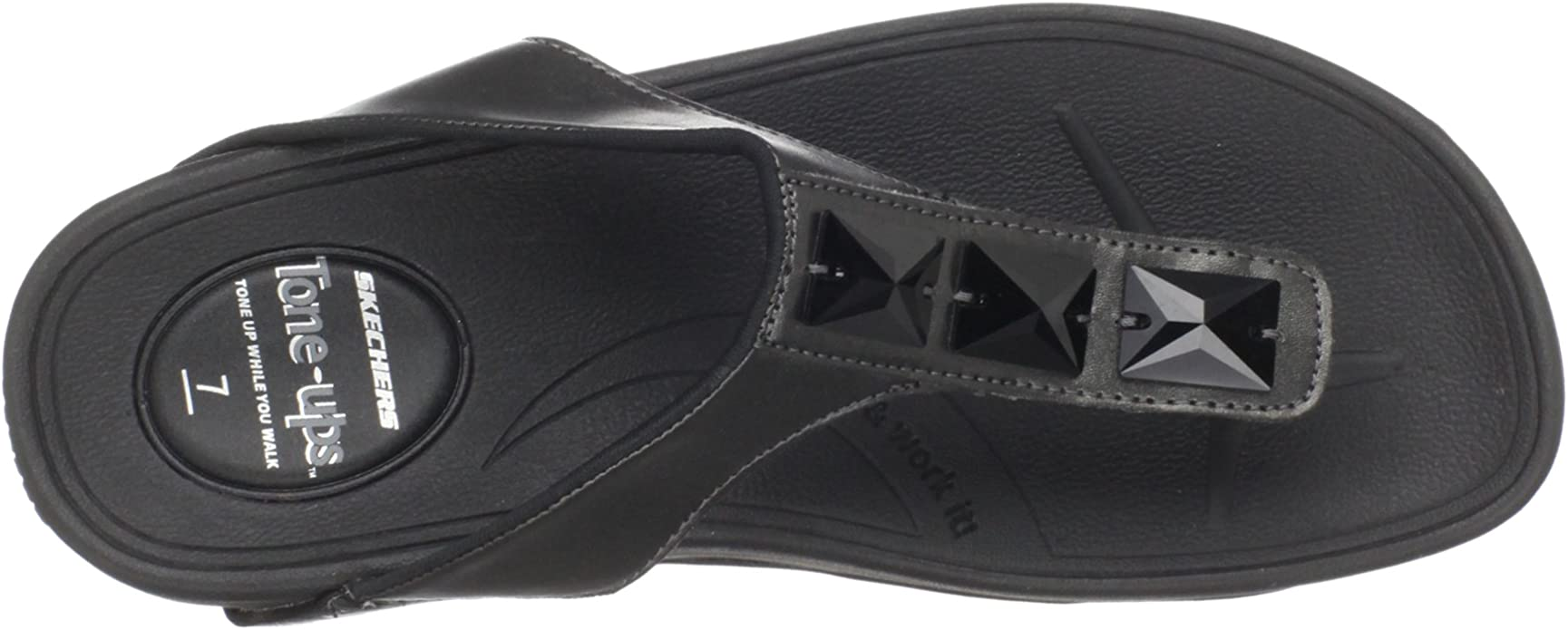 Skechers Tone Ups Upgrades Head First, Tongs femme