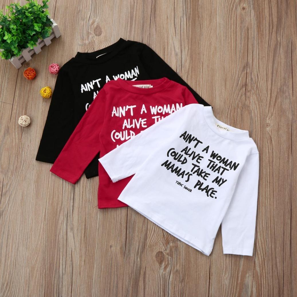 Memela TM Baby Kids Long Sleeve T-shirt Top 0-4 Years