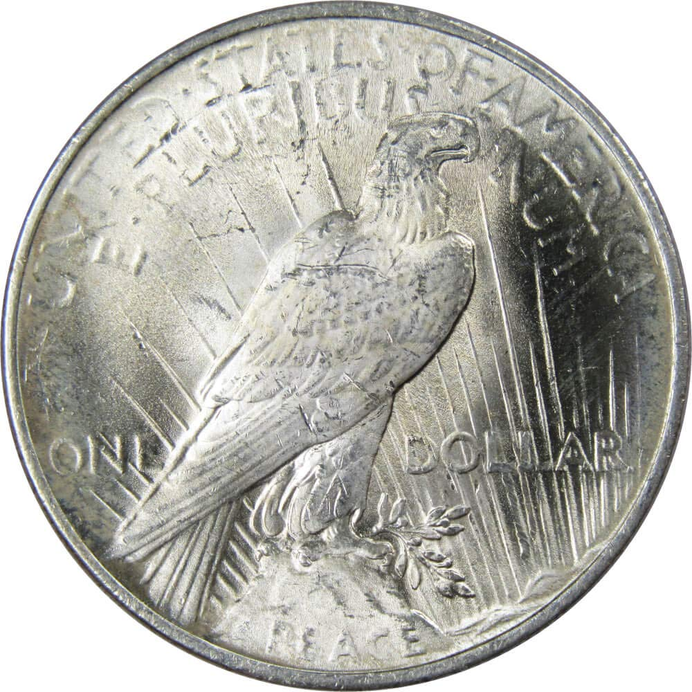 1922 Peace Dollar BU Uncirculated Mint State 90/% Silver $1 US Coin Collectible